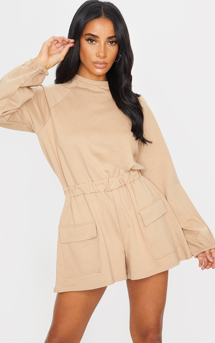 Stone Sweat Long Sleeve Pocket Romper 3