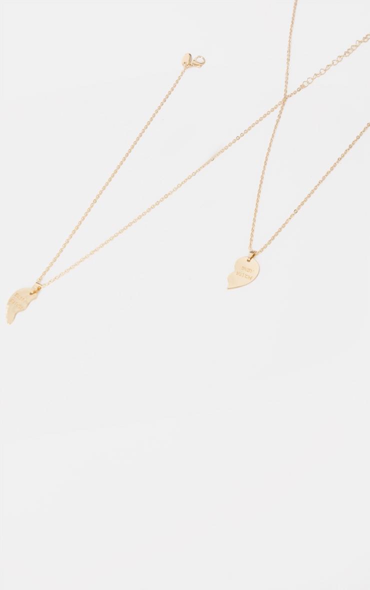 Gold Best Bitch Necklace 4