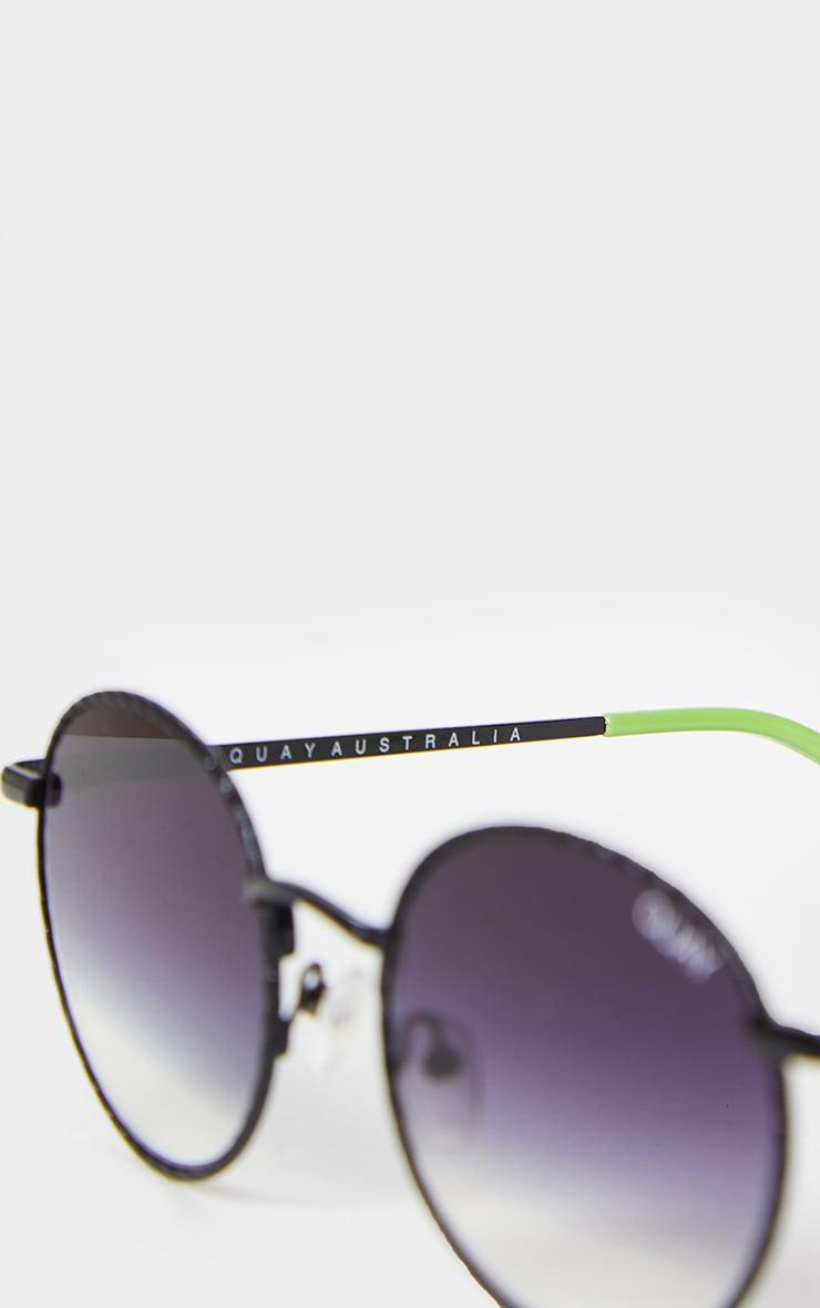 QUAY Australia Black Fade Lens Round I See You Sunglasses 3