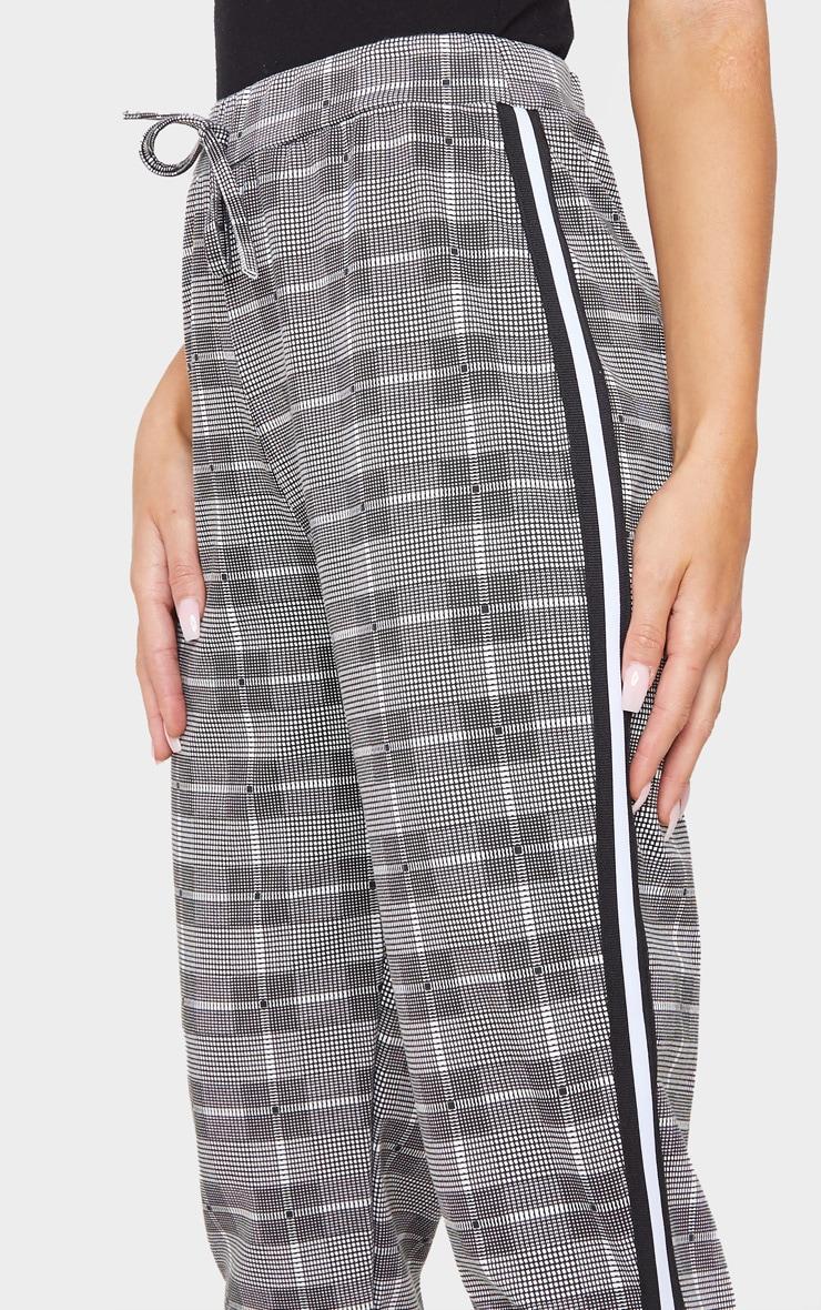 Grey Check Side Stripe Jogger 5