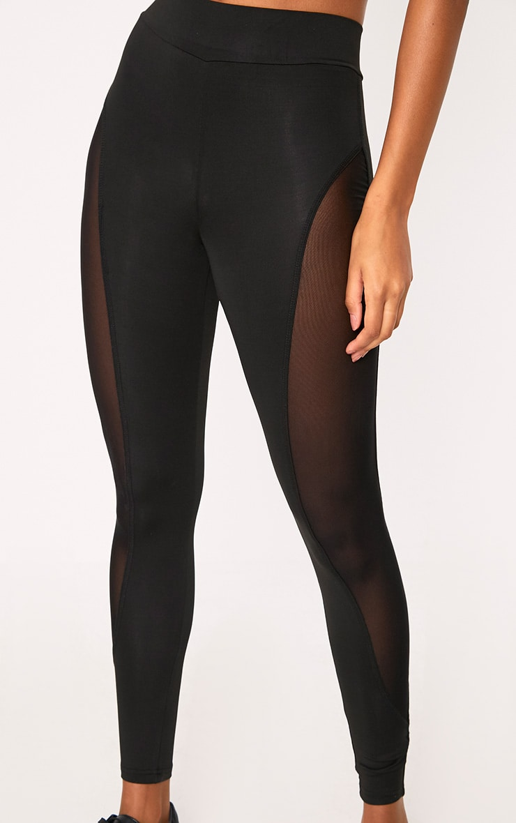 Saskia Black Mesh Side Panel Leggings 5