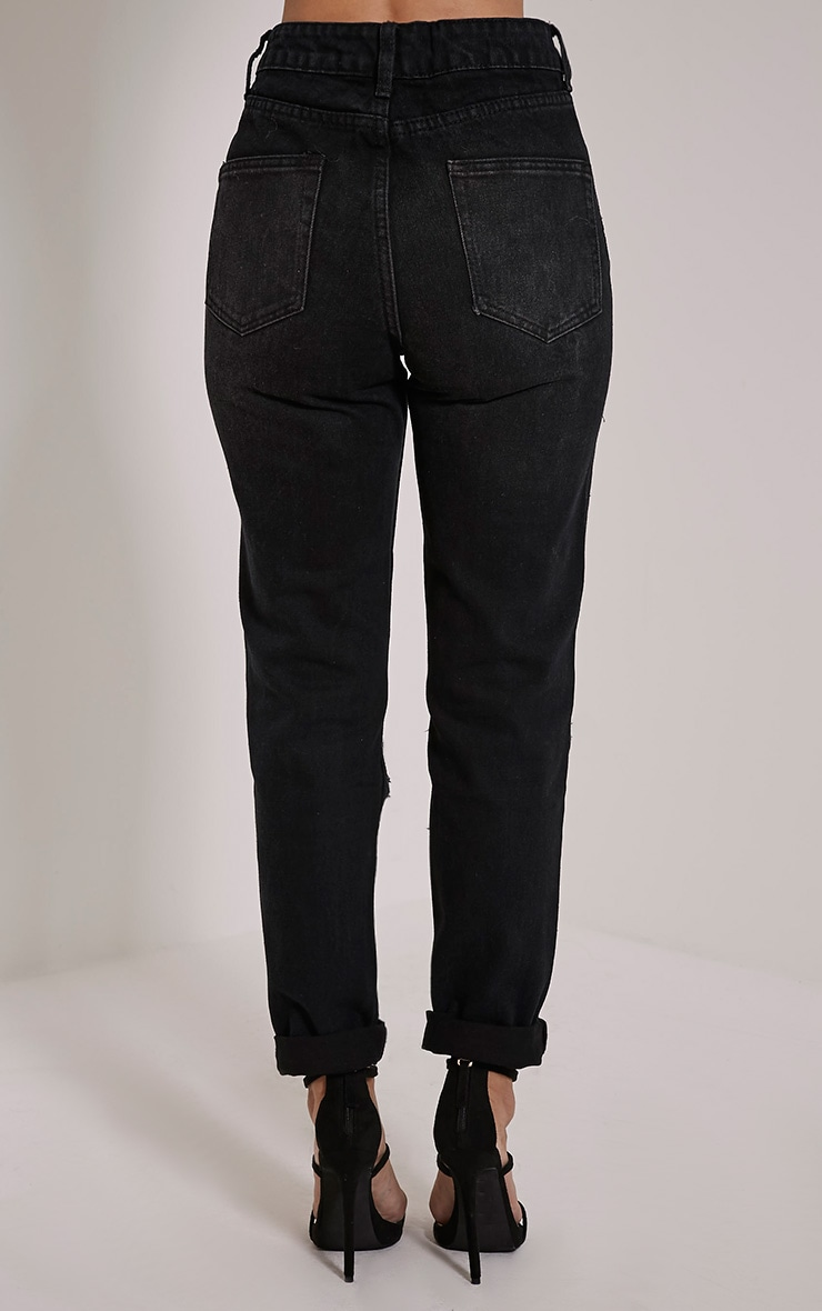 Marri Charcoal Extreme Ripped Jeans 5
