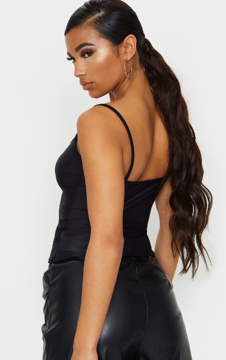 Black Slinky Cami Top 2