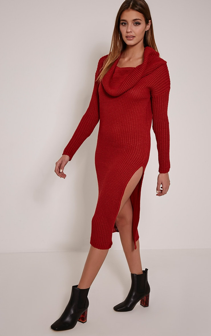 Braven Rust Cable Knit Maxi Jumper Dress 1