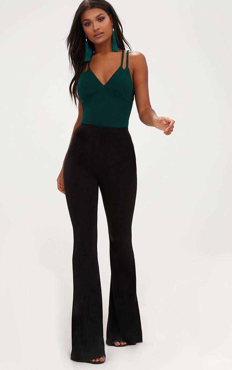 Emerald Double Strap Thong Bodysuit 3