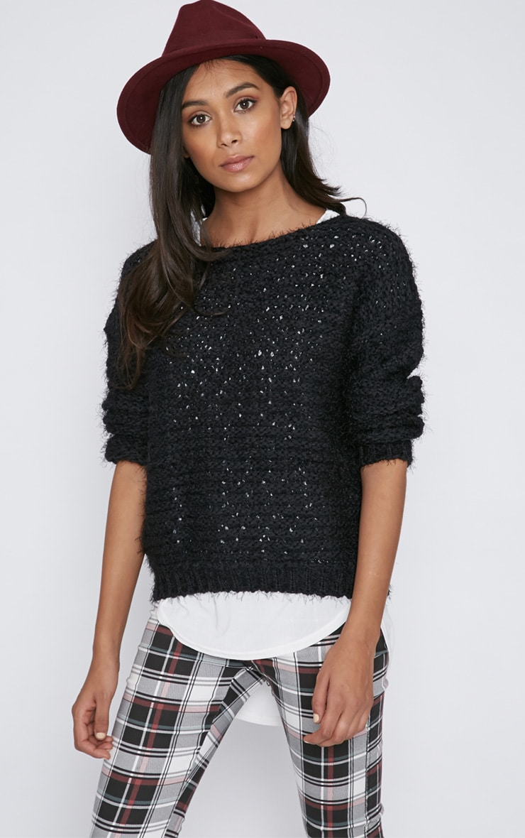 Hadley Black Cropped Jumper  6