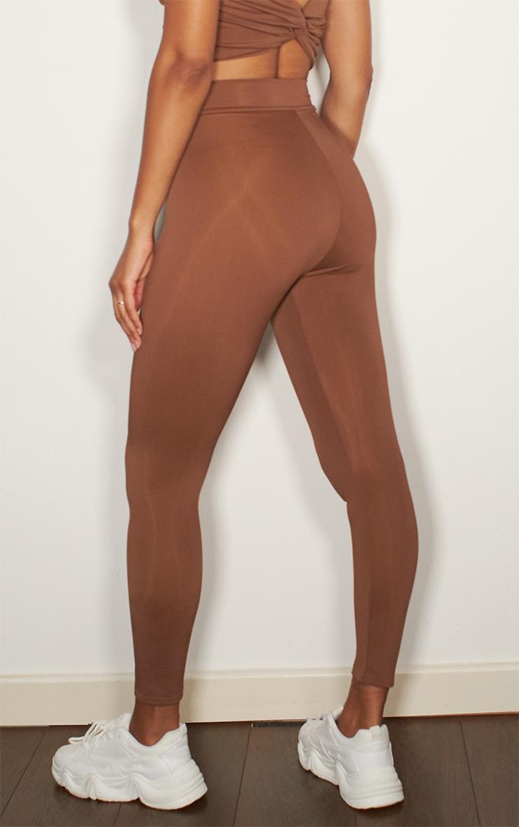 Chocolate V Front Gym Leggings 3