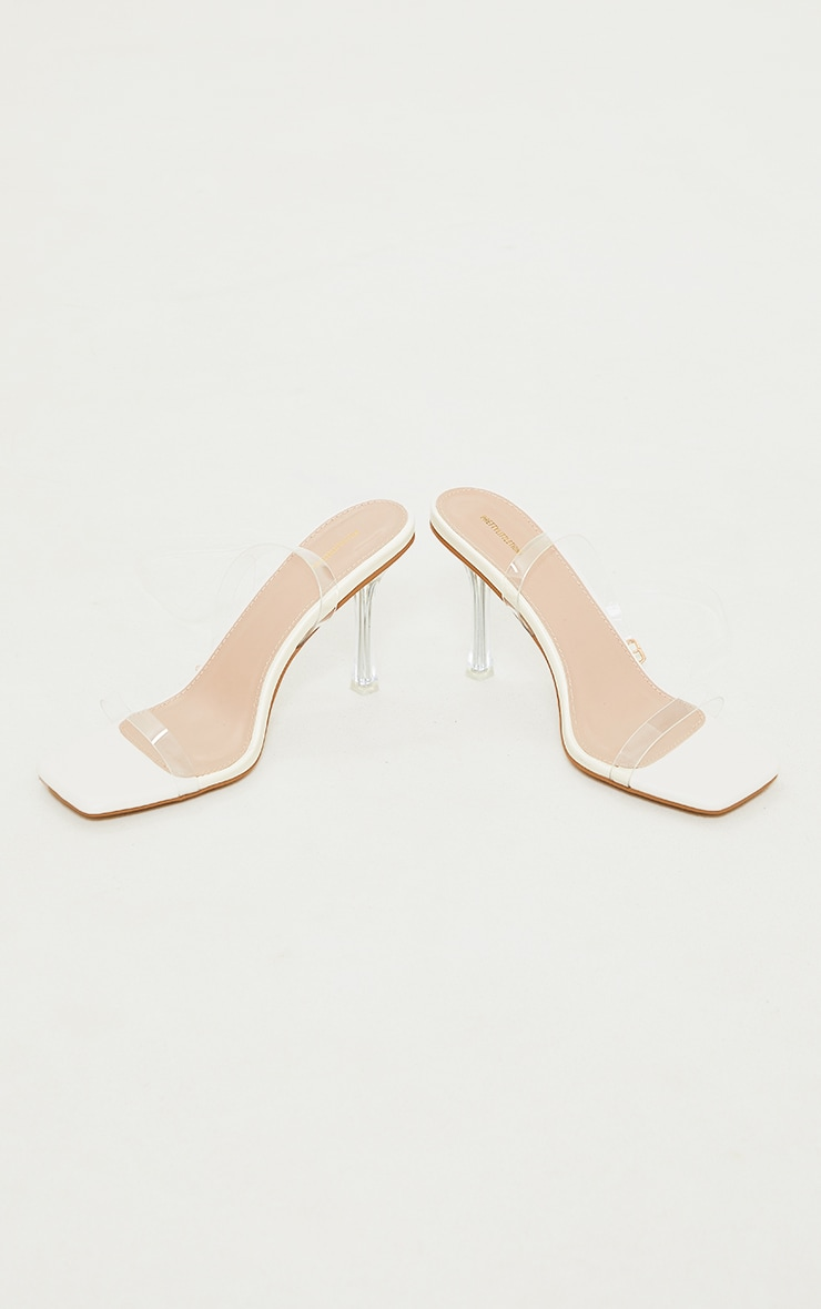 Nude Clear Heeled Sandals 4