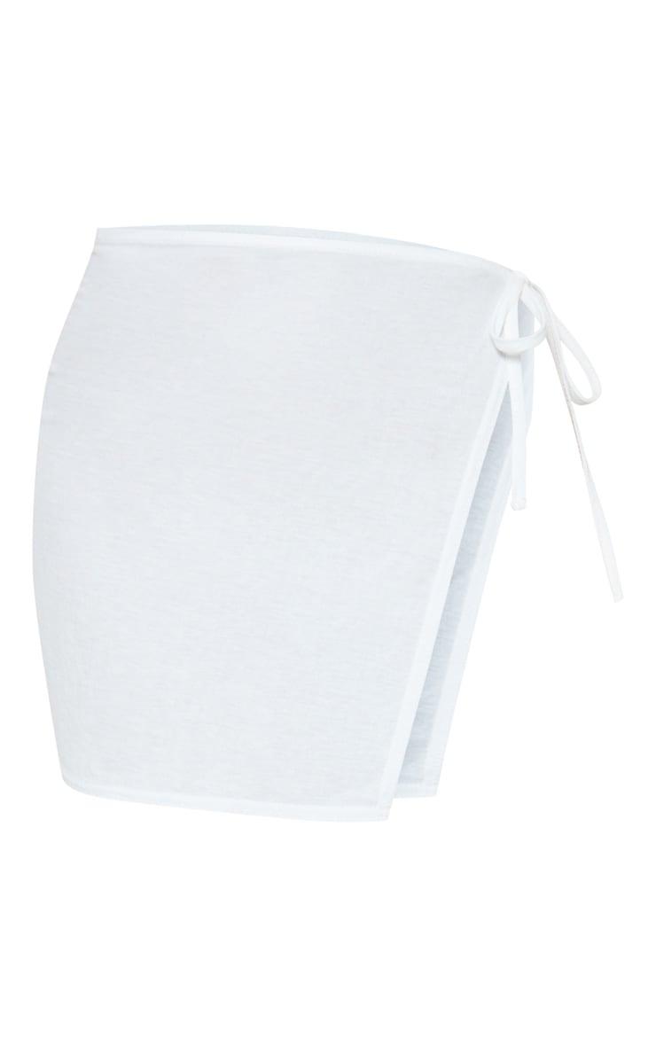 White Mini Cotton Sarong 3