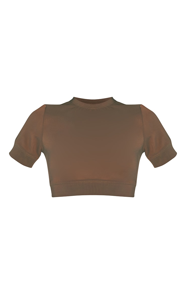Second Skin Walnut Cropped Mesh Lingerie Top 5