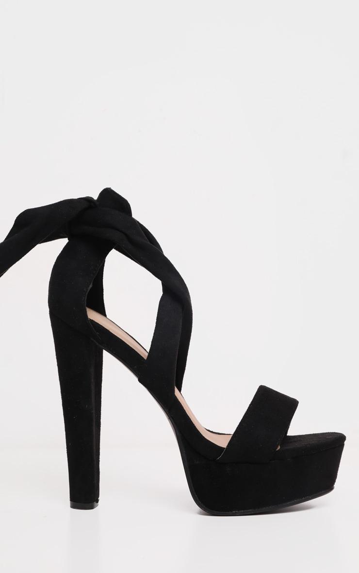 Tria sandales plateformes en imitation daim noires 4