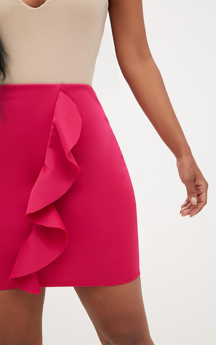 Shape Fuchsia Mini Frill Skirt  6