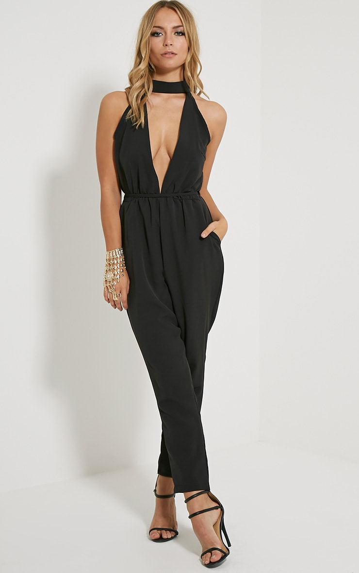 Jeena Black Cut Out Detail Jumpsuit 4