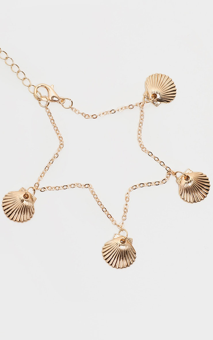 Gold Shell Charm Anklet 3