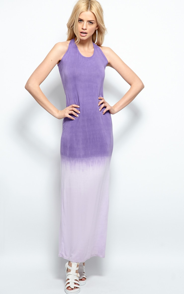 Tina Purple Ombre Maxi Dress 1