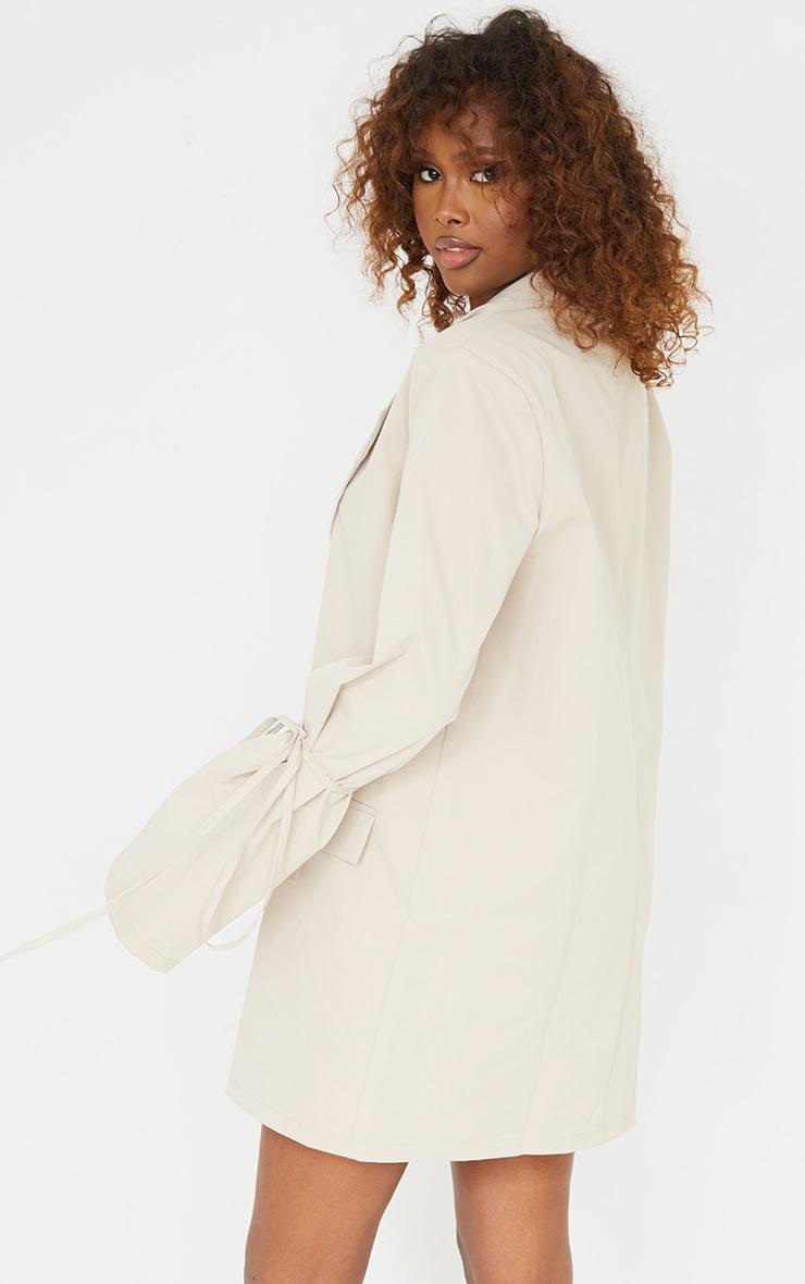 Stone Tie Cuff Pocket Detail Blazer Dress 2