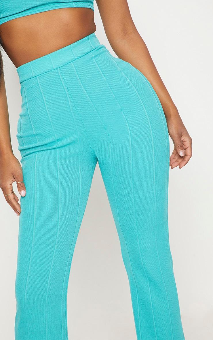 Shape Turquoise Bandage Wide Leg Trousers 5