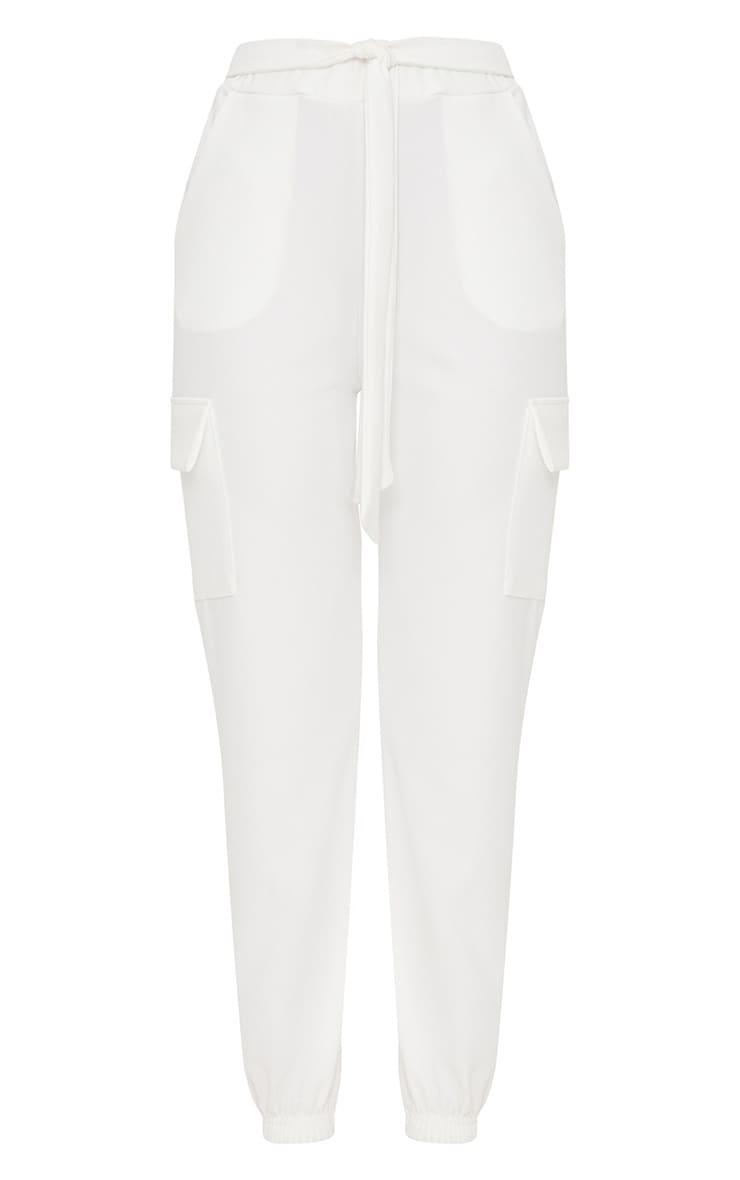 White Tie Waist Pocket Detail Trouser 3