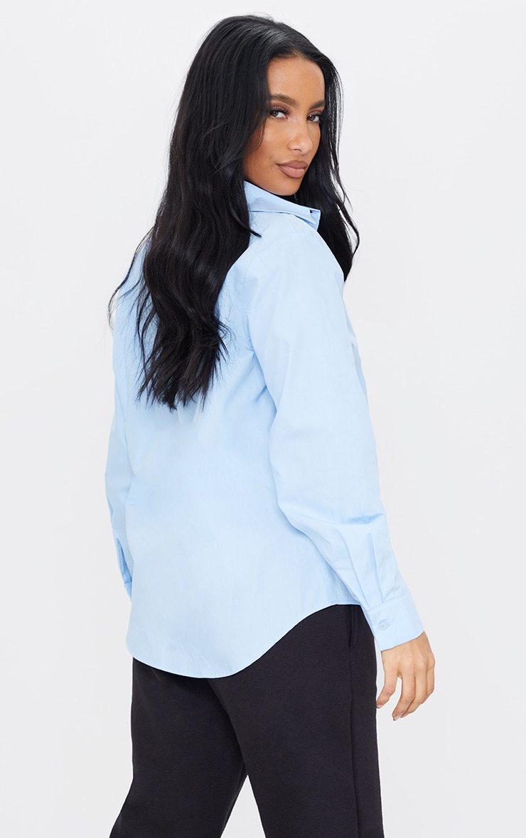 PRETTYLITTLETHING Ice Blue Printed Shirt 1