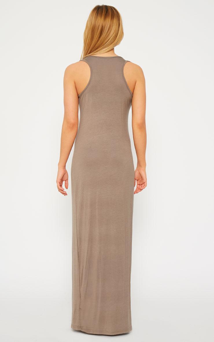 Basic Mocha Jersey Maxi Dress 2