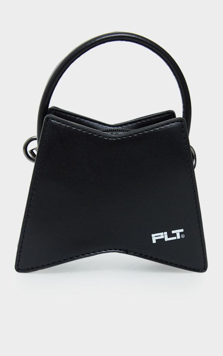 PRETTYLITTLETHING Black Triangular Mini Bag 2