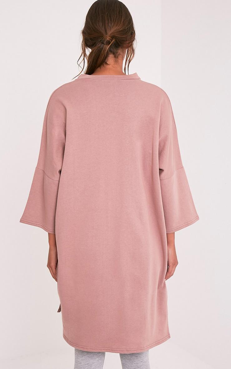 Ceara Dark Mauve Split Side Sweater Dress 2