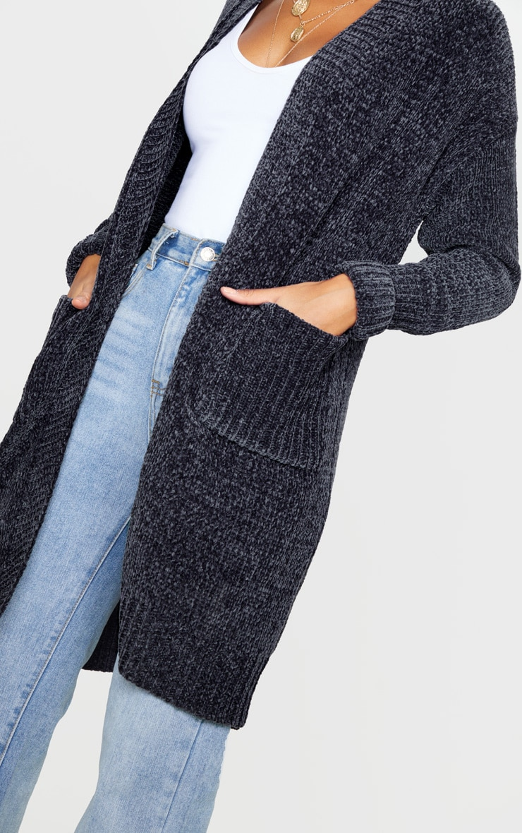 Charcoal Chenille Cardigan 5