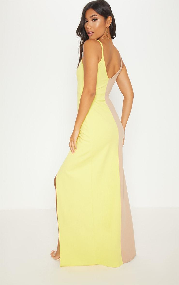 Nude Colour Block Wrap Over Maxi Dress 2