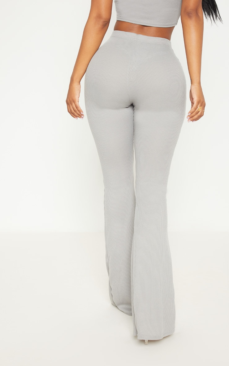 Shape Charcoal Ribbed Flares 4