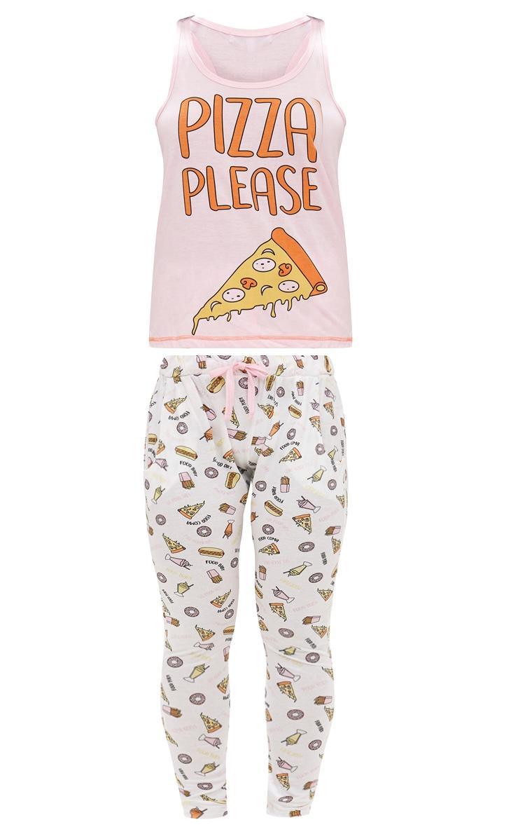 Pink Pizza Please PJ Set 3