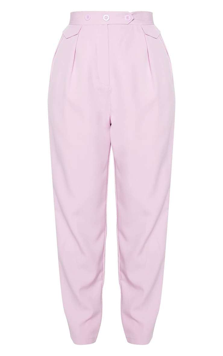 Lilac Tapered Button Front Pants 5