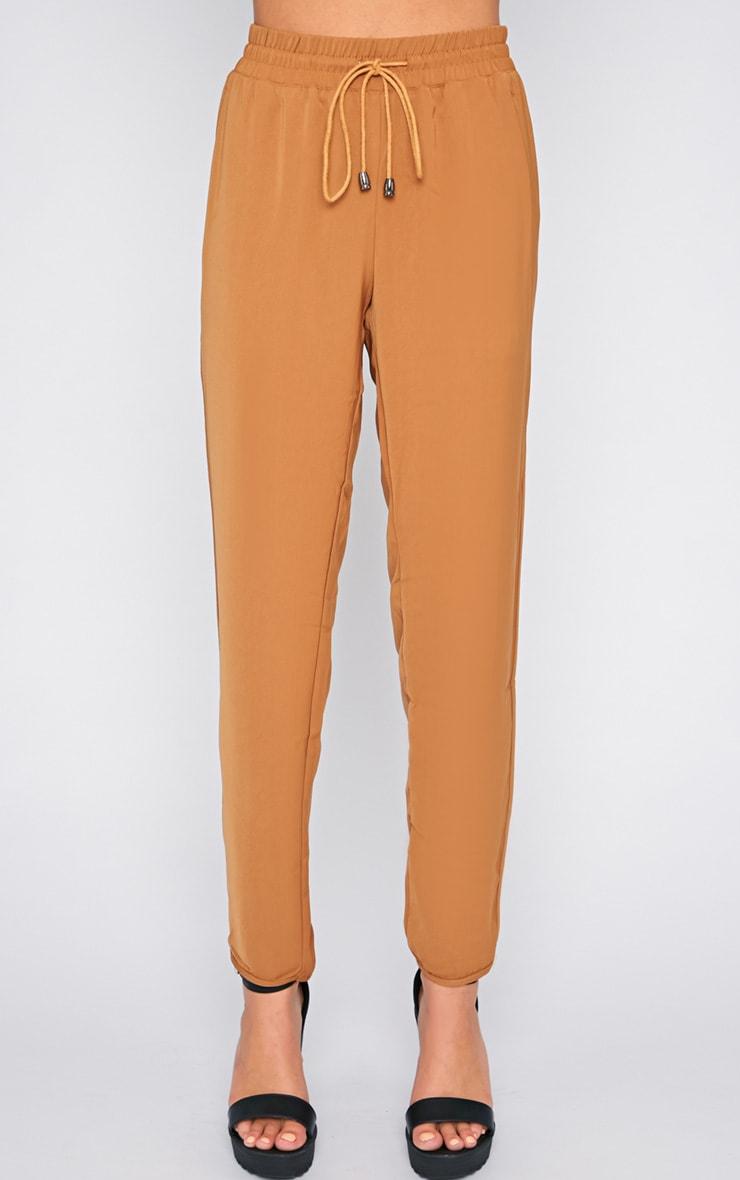Lexi Camel Drawstring Trouser 3