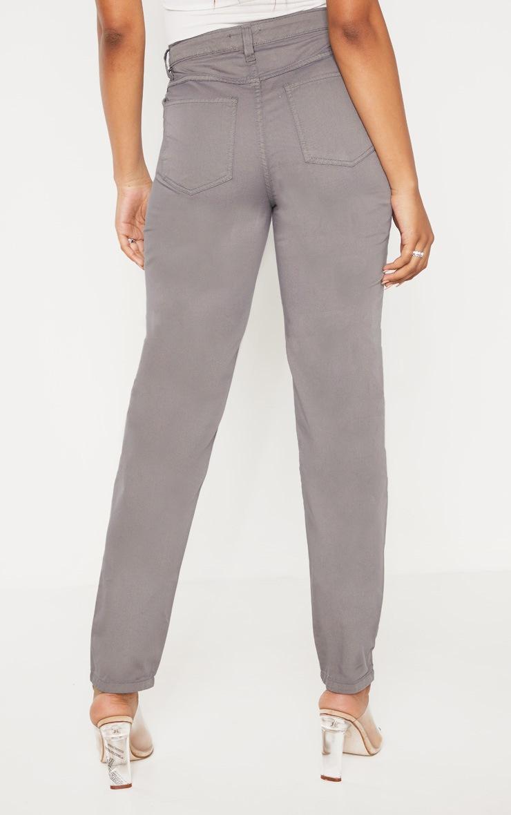 Tall Grey Denim Mom Jeans 4