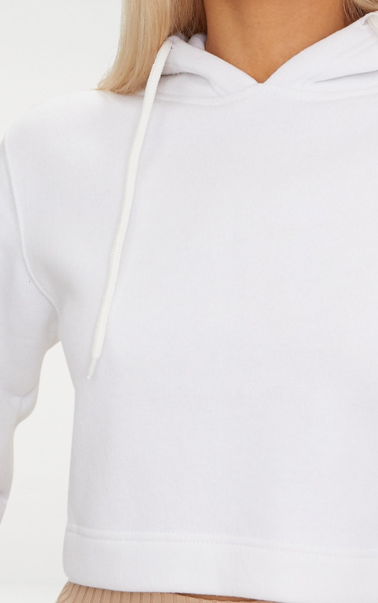 White Ultimate Fleece Hoodie 5