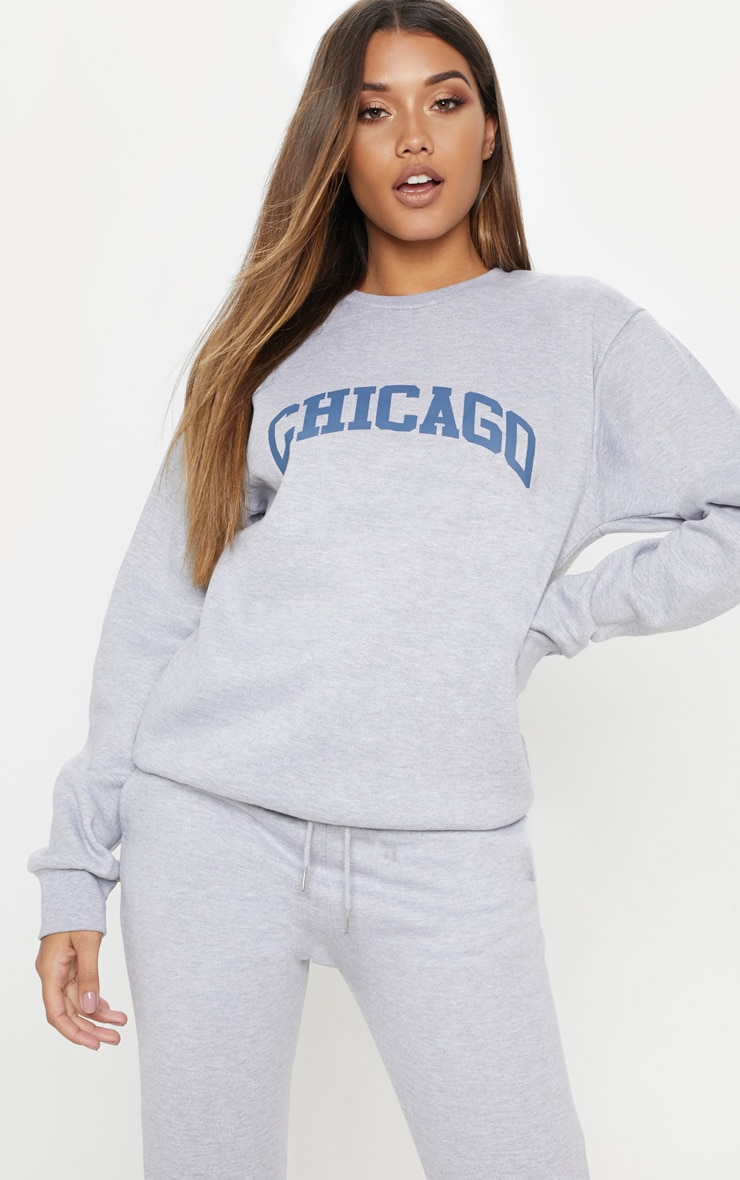 Grey Marl Chicago Sweater 1