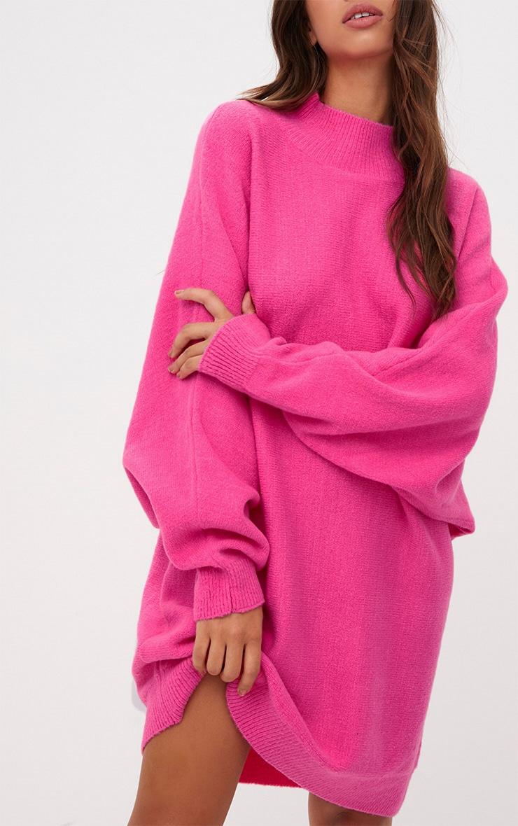 Pink Oversized Jumper Dress 5