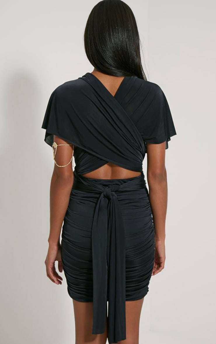 Katherine Black Multiway Mini Dress 5