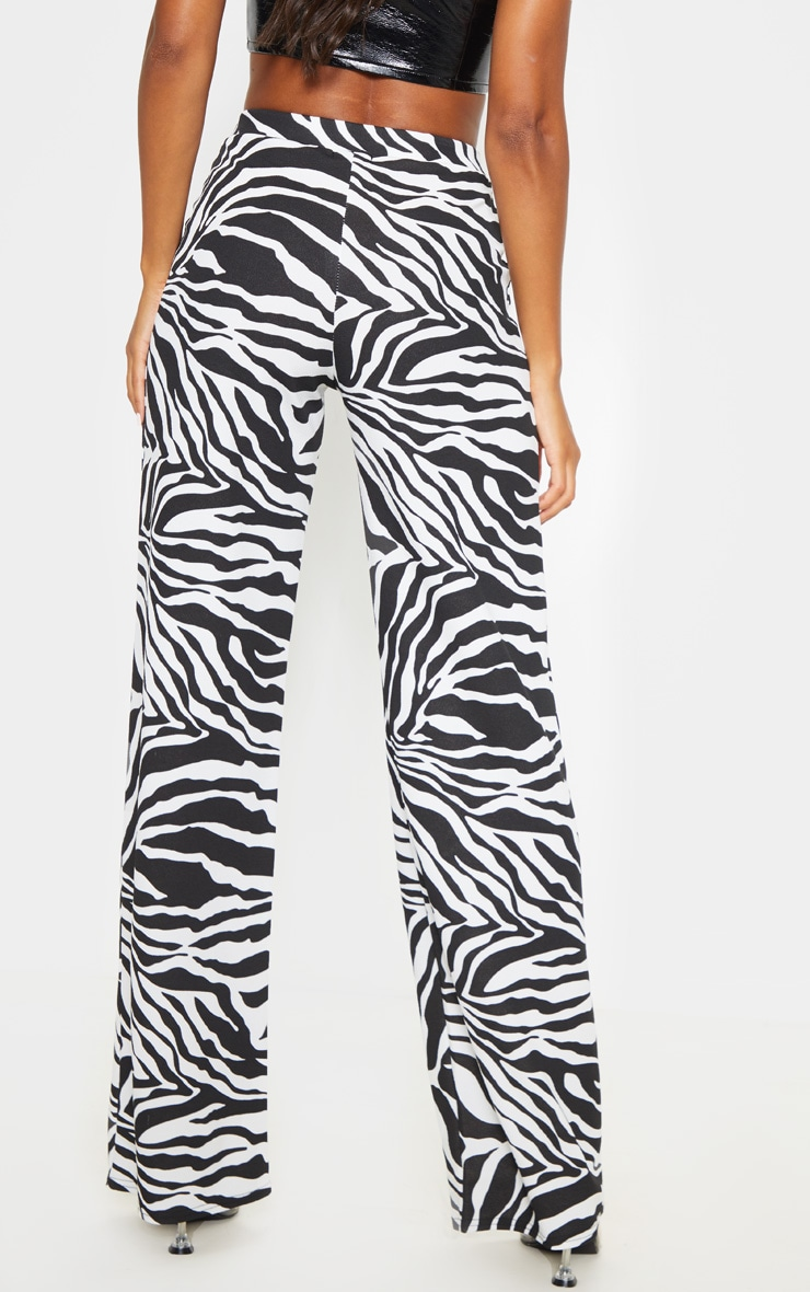 Zebra Wide Leg Pants  4