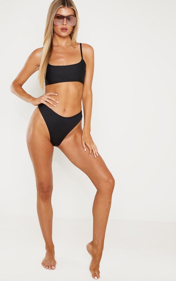 Tall Black Bikini Bottoms 4