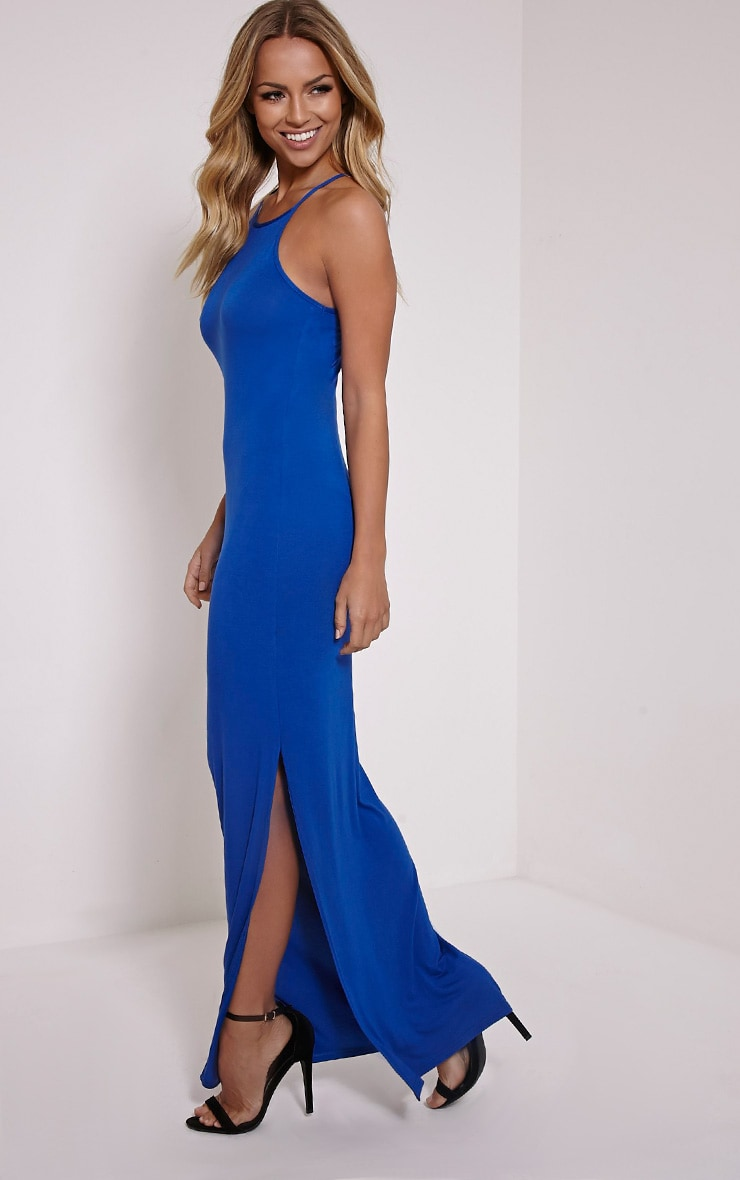 Basic Cobalt Square Neck Maxi Dress 1