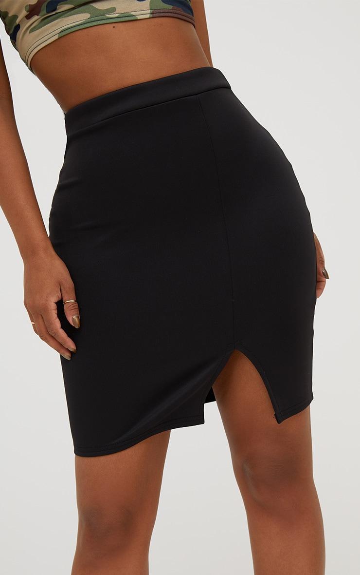 Shape Black Basic Mini Split Front Skirt  6