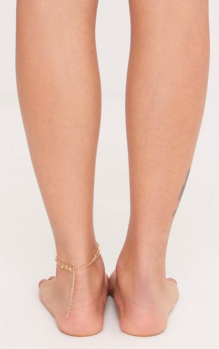 Nichelle Gold Hand Drop Anklet 3