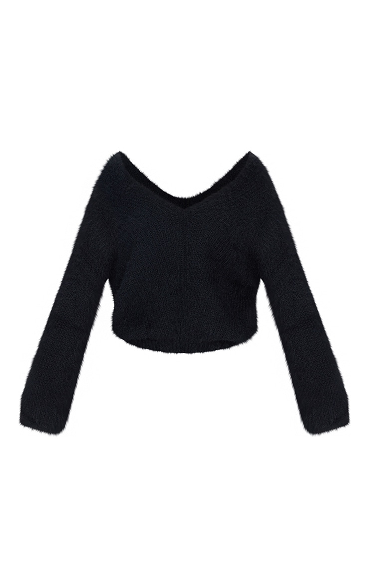 Black Eyelash Knitted Jumper 5