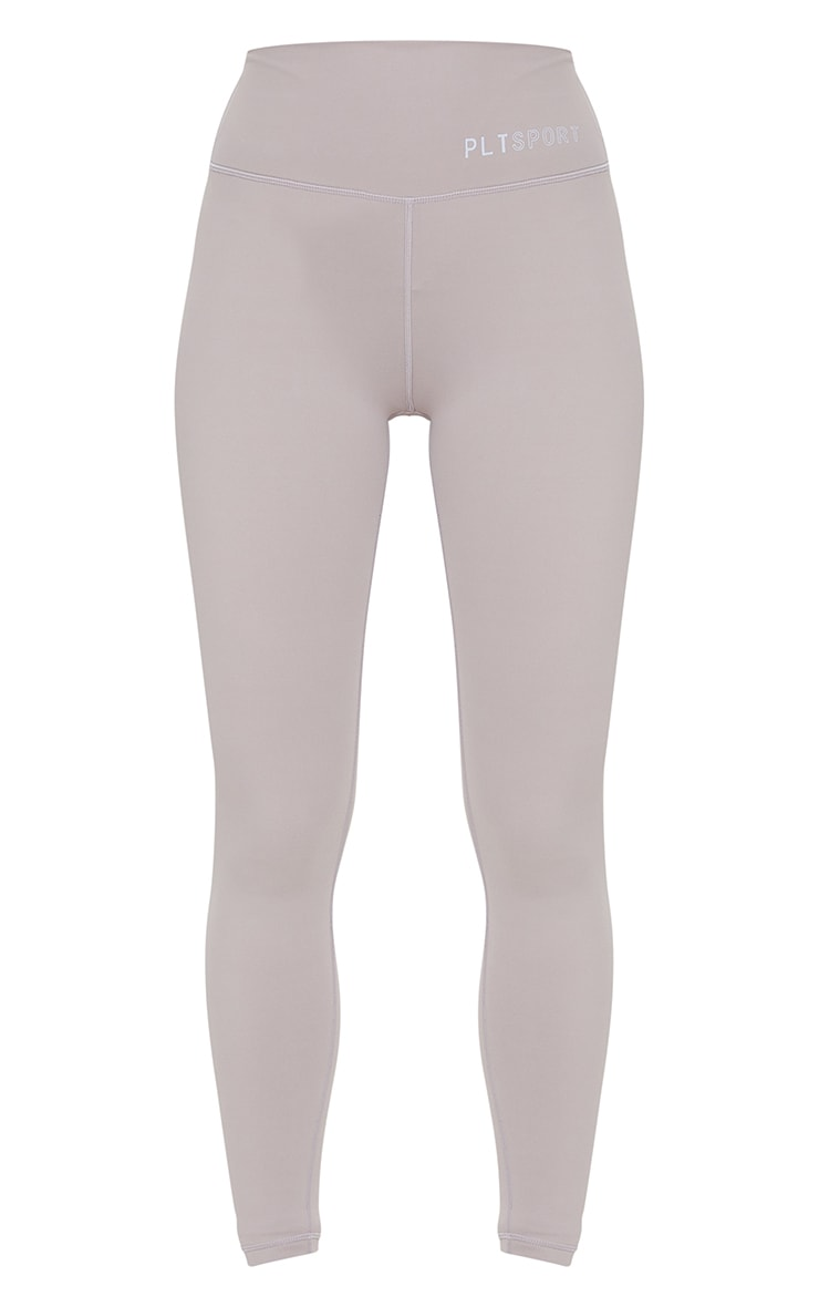PRETTYLITTLETHING Taupe Sculpt Luxe high Waist Gym Legging 5