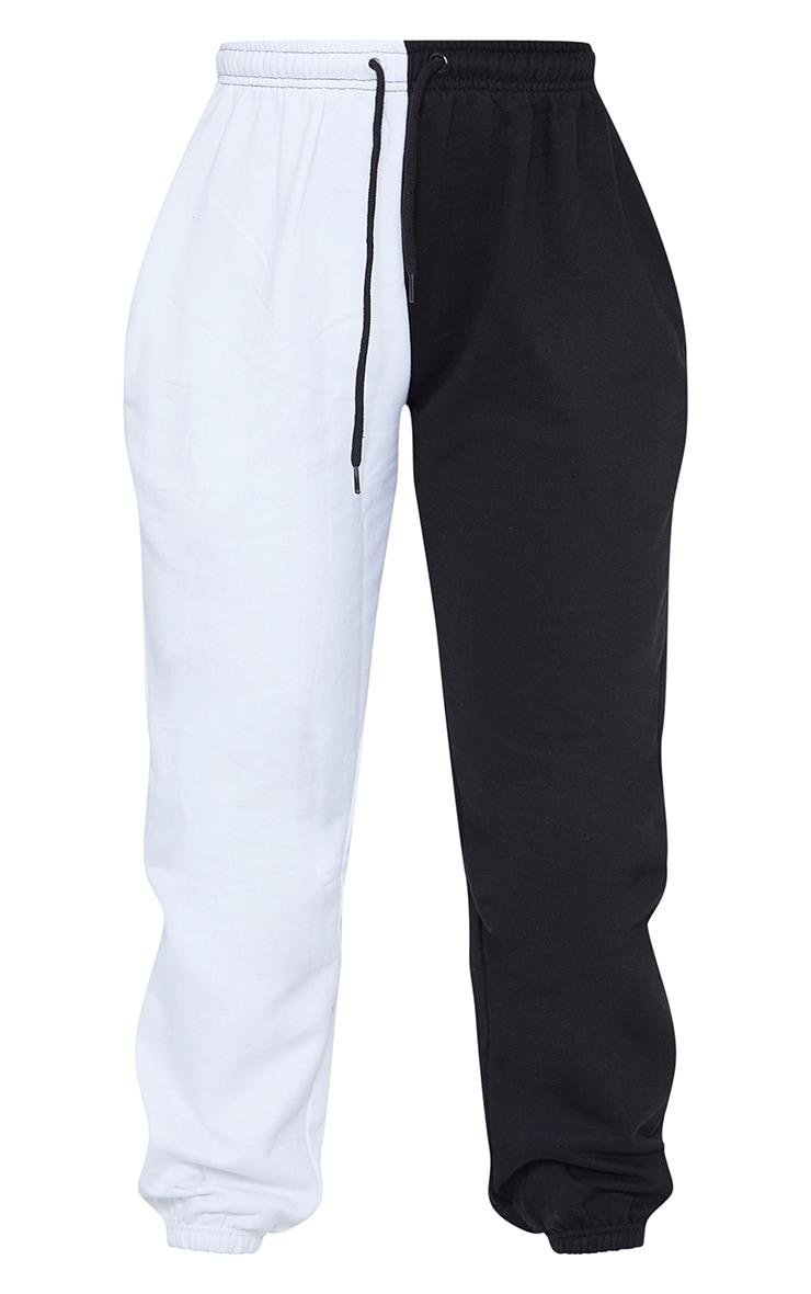 Black Contrast Leg Joggers 5