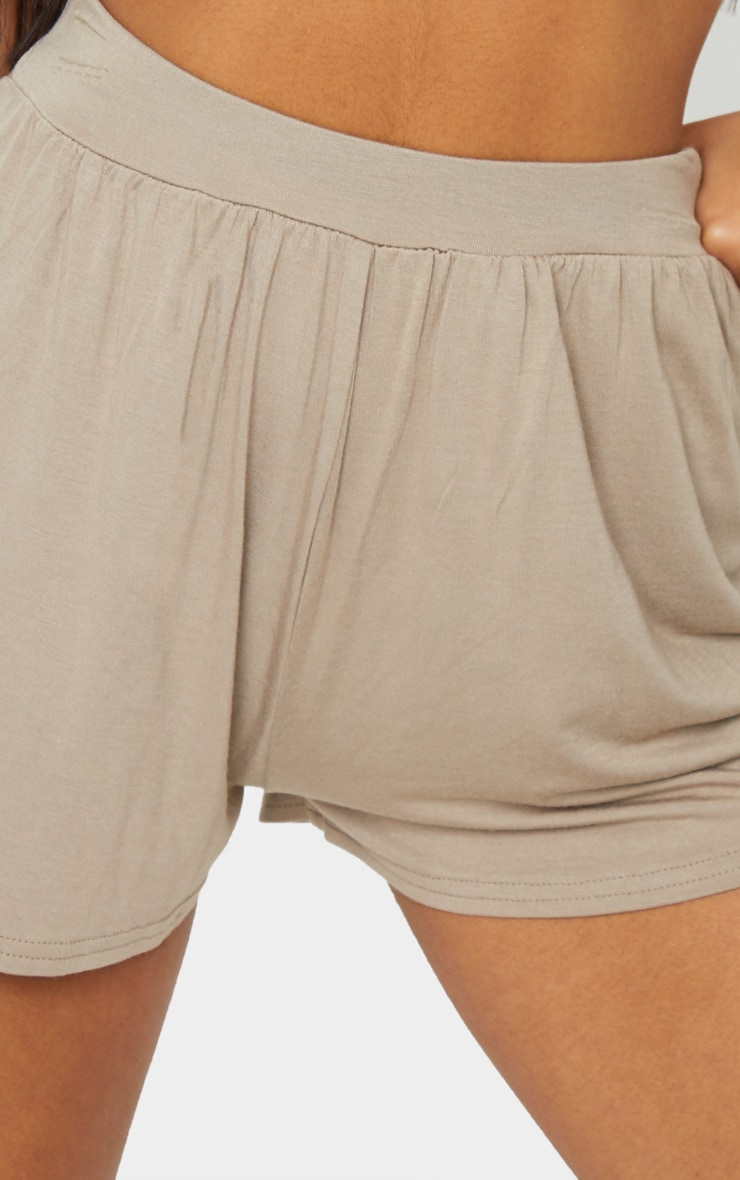 Lucilla Taupe Jersey Floaty Shorts 5