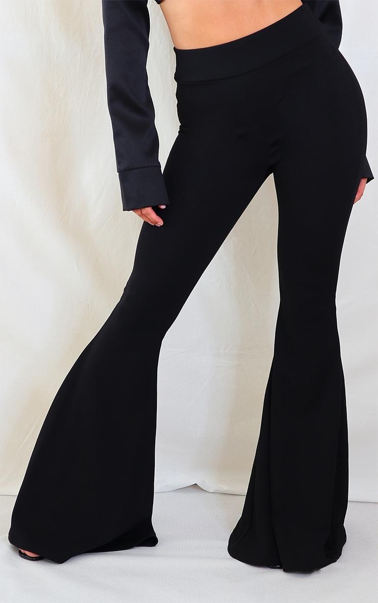 Black Extreme Flare Leg Pants 2