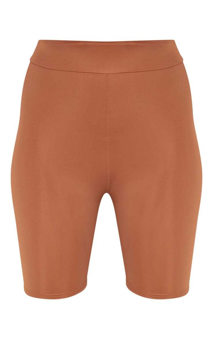 Brown Basic Gym Cycle Short 3