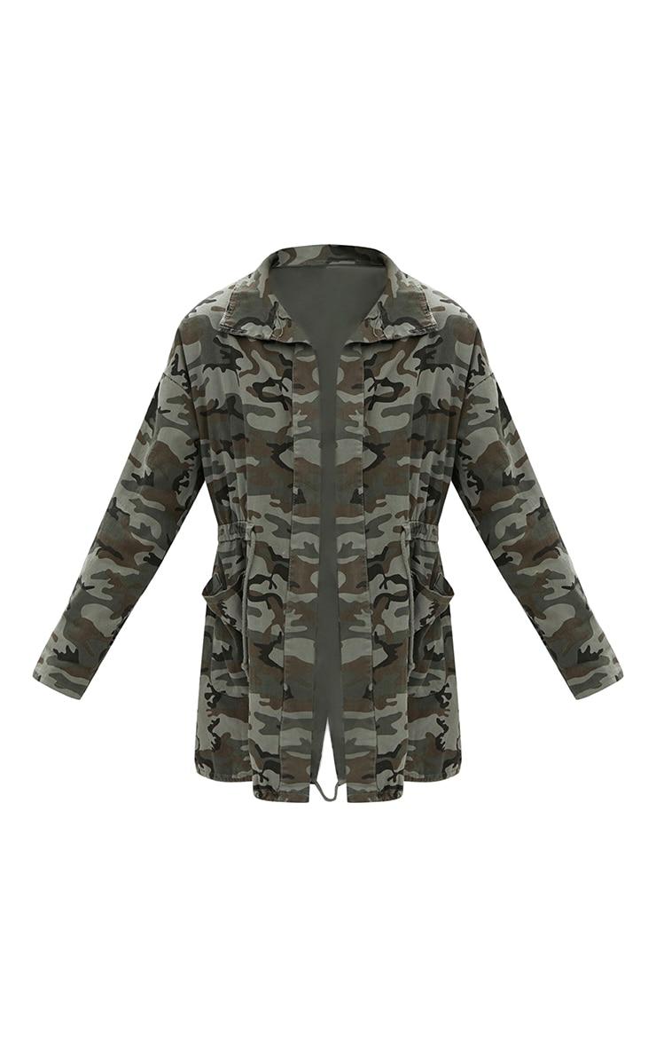 Khaki Camouflage Tie Waist Jacket 3