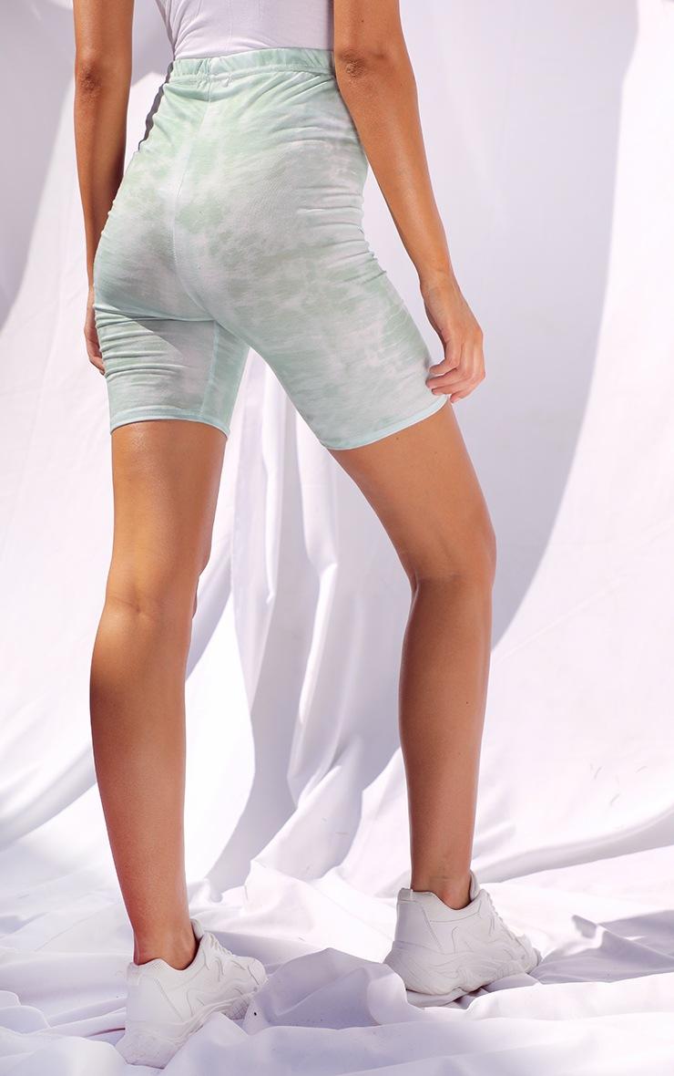 Sage Tie Dye Cycle Shorts 3